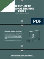 De Toekomst Van Personal Training - Part 1