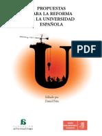 Propuestas para la reforma de la Universidad española
