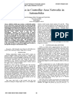 Security Issues in Controller Area Networks in Automobiles