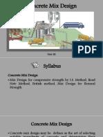 concrete mix designs