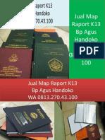 WA 0813.270.43.100, Jual Cover Raport TK di Aek Kanopan Sumatra Utara