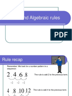 Patterns and Algebra Rules.ppt