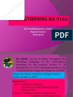 Ra 9165 as Amended by Ra 10640 Pro 3