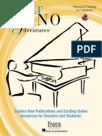 Adult Piano Adventures - Resource Catalog for Teachers