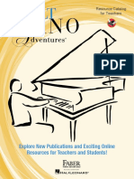 Adult Piano Adventures - Resource Catalog for Teachers
