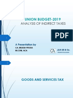Indirect Tax - Budget 2019