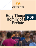 Holy Thursday Homily of the Prelate