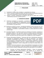 Norma Interna - Aas0601 Sindicancia Processo Administrativo