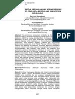 Pengaruh Kinerja Keuangan dan Non Keuangan