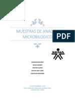 Imforme Microbiologico Del Agua