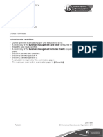 Business Management Paper 1 HL