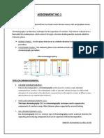 ASSIGNMENT NO 1 chromatography EXACT.docx