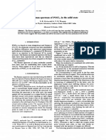 Raman Spektrum of POCl3