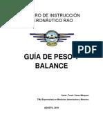 Guia de Peso y Balance