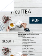 HealTEA - ISO Output