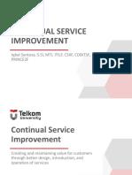 06 Continual Service Improvement