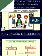 1- Prevención de Lesiones en Gimnasios - Alumnos
