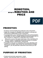 Promotion Distribution and Price