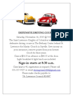 Defensive Driving Cour5e 11-16-19-Revised