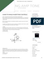 Guide to Single Knob Tone Controls – Chasing Amp Tone
