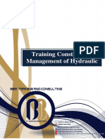 Training Construction Management of Hydraulic Projects