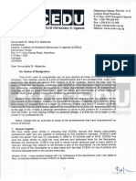 KAHERU Notice OF resignation from  CCEDU