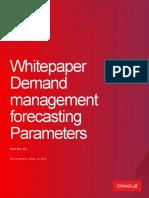 Demand Management Forecasting Parameters