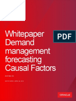 Demand Management Forecasting Causal Factors