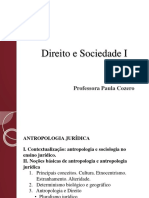 Direito e Sociedade I - Antropologia