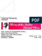 Praveena Clinic Visiting Card