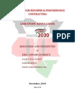Performance Contracting in Kenya