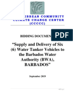 Bid Document for the Supply and Delivery of Six Water Tankers Wsrn s Barbados Project