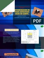 8.3 DETERMINACION DE PESOS ESPECIFICOS SECOS EN CAMPO.pptx