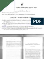 Unidad 4 - Lecturas Complementarias (Manzoni, De Rosso, López, Cobas, Jali, Pezzoni, Linck, Escalante)