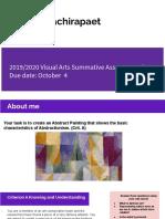 tawan wachirapaet - 2019 2020 g8 visual arts summative assessment q1
