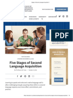 5 Stages of Second Language Acquisition