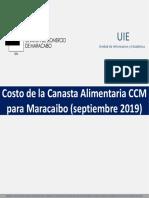 Canasta Alimentaria de Maracaibo para septiembre 2019