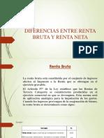 Diferencias Entre Renta Bruta y Renta Neta
