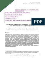 2. Pagamentos Por Serviços Ambientais Da Agricultura Para Proteção de Bacias Hidrográficas.