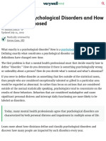 Psychological Disorders and how they are Diagnosed