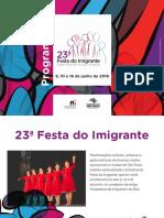 MUSEU DA IMIGRACAO 23 Festa Do Imigrante Programacao Atualizado