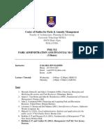 Pmg512 Course Outline Sept-jan 2019