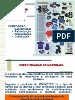 Especificação de Materiais