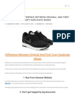 Difference Between Original and First Copy Duplicate Shoes _ How to Find