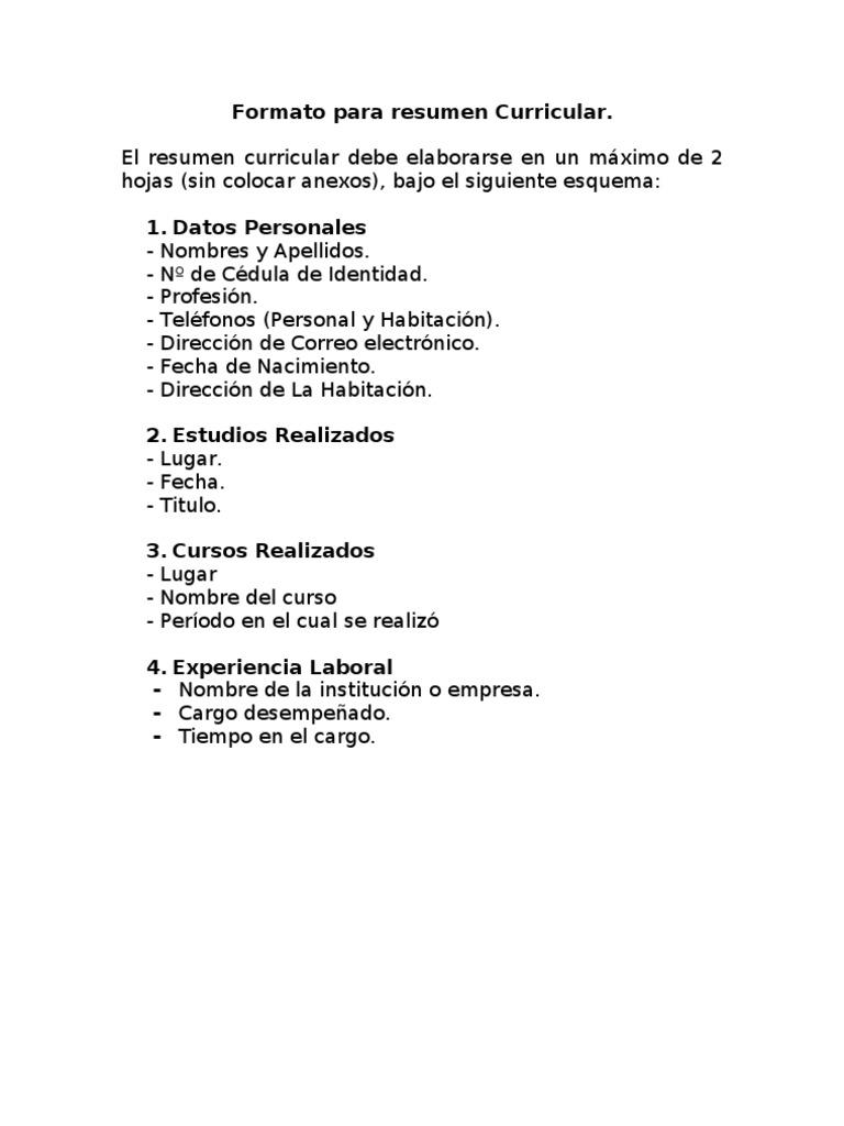 Hermosa Resume El Formato De Lista De Referencias Elaboración ...