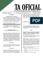 GACETA OFICIAL EXTRAORDINARIA N° 6480.