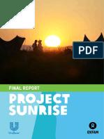 Slp Project Sunrise Report