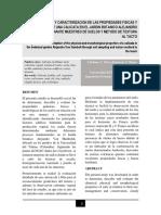 DESCRIPCION DE UNA CALICATA Y ANALISIS DE LA TEXTURA DEL SUELO