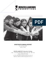 2018 - Annual Report - MISCELLANEOUS Productions