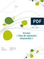 Plus de Memoire Disponible(1)